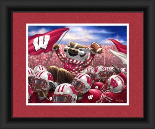 Wisconsin Badgers Celebration Framed Print