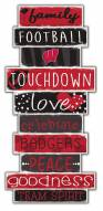 Wisconsin Badgers Celebrations Stack Sign