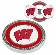 Wisconsin Badgers Challenge Coin with 2 Ball Markers