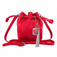 Wisconsin Badgers Charming Mini Bucket Bag