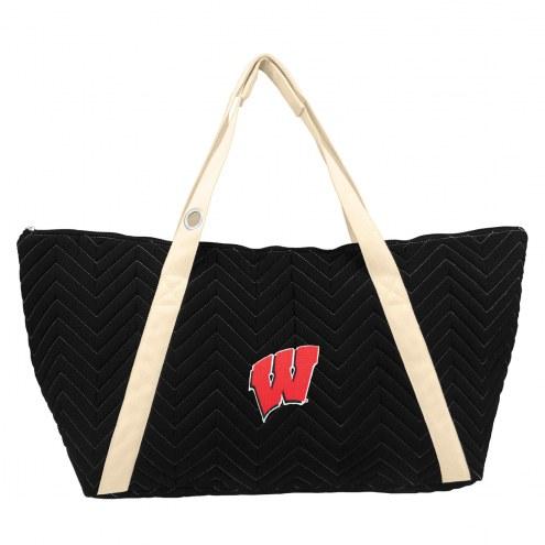 Wisconsin Badgers Chevron Stitch Weekender Bag