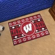 Wisconsin Badgers Christmas Sweater Starter Rug