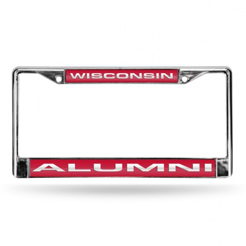 Wisconsin Badgers Chrome Alumni License Plate Frame