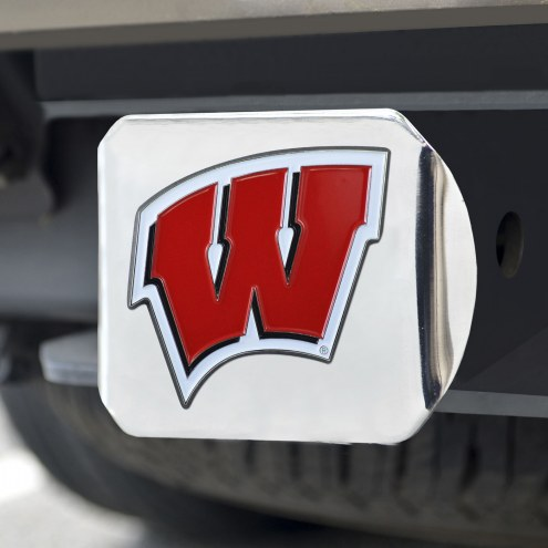 Wisconsin Badgers Chrome Color Hitch Cover