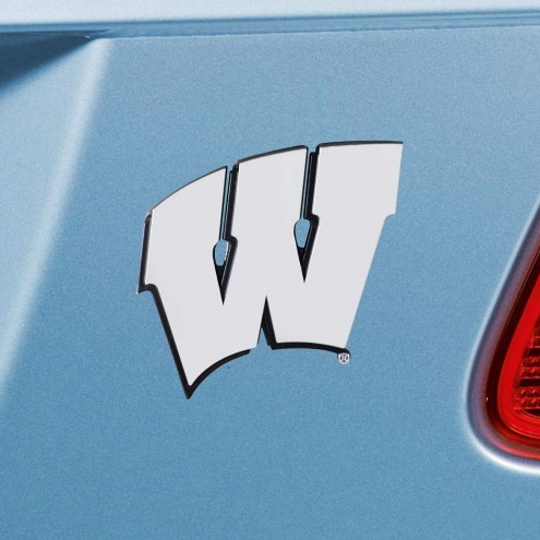 Wisconsin Badgers Chrome Metal Car Emblem