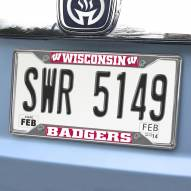 Wisconsin Badgers Chrome Metal License Plate Frame