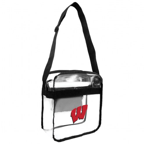 Wisconsin Badgers Clear Crossbody Carry-All Bag