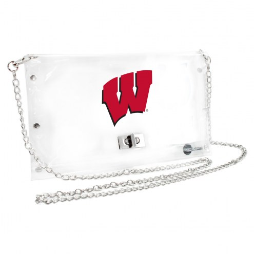 Wisconsin Badgers Clear Envelope Purse