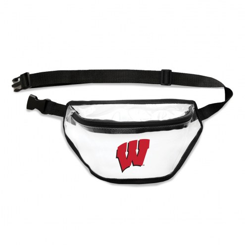 Wisconsin Badgers Clear Fanny Pack