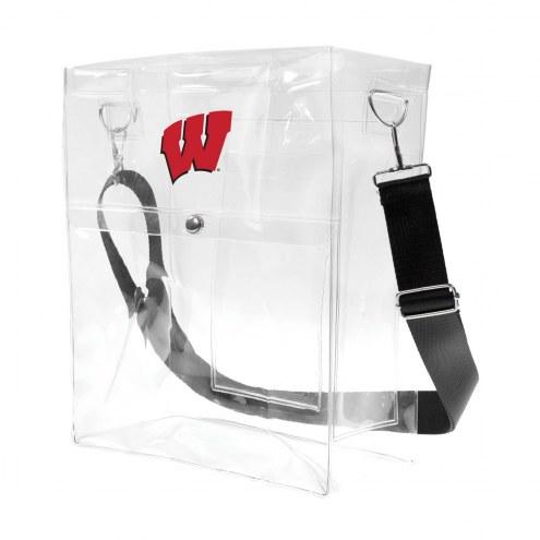 Wisconsin Badgers Clear Ticket Satchel