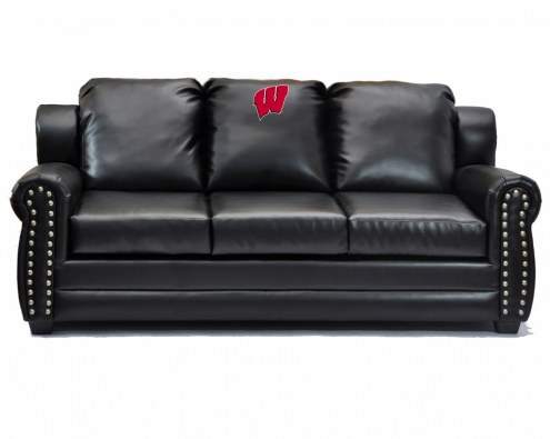 Wisconsin Badgers Coach Leather Sofa