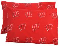 Wisconsin Badgers Printed Pillowcase Set