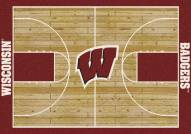 Wisconsin Badgers College Home Court Area Rug
