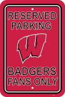 Wisconsin Badgers College Parking Sign