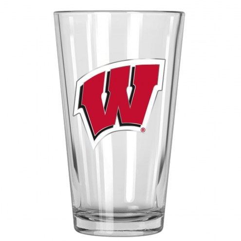 Wisconsin Badgers College 16 Oz. Pint Glass 2-Piece Set