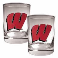 Wisconsin Badgers College 2-Piece 14 Oz. Rocks Glass Set
