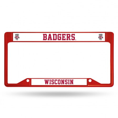 Wisconsin Badgers Colored Chrome License Plate Frame