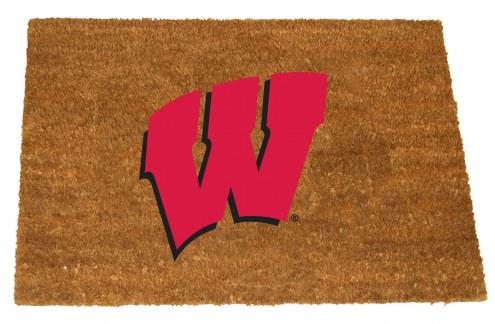 Wisconsin Badgers Colored Logo Door Mat