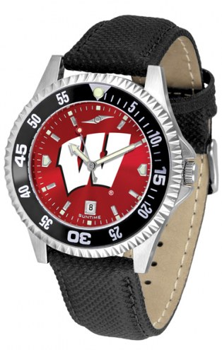 Wisconsin Badgers Competitor AnoChrome Men's Watch - Color Bezel