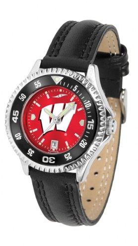 Wisconsin Badgers Competitor AnoChrome Women's Watch - Color Bezel