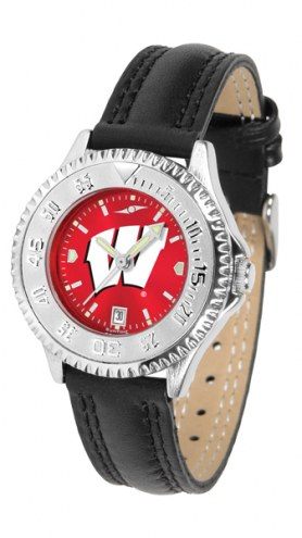 Wisconsin Badgers Competitor AnoChrome Women's Watch