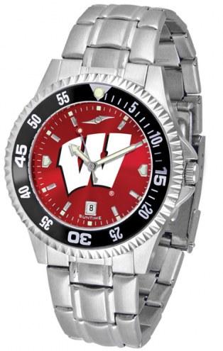 Wisconsin Badgers Competitor Steel AnoChrome Color Bezel Men's Watch