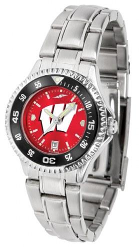 Wisconsin Badgers Competitor Steel AnoChrome Women's Watch - Color Bezel
