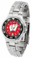 Wisconsin Badgers Competitor Steel AnoChrome Women's Watch - Color Bezel
