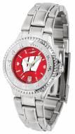 Wisconsin Badgers Competitor Steel AnoChrome Women's Watch