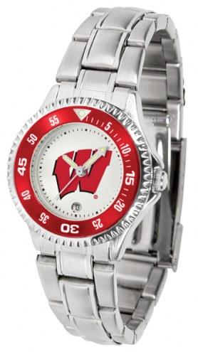 Wisconsin Badgers Competitor Steel Women's Watch