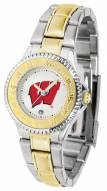 Wisconsin Badgers Competitor Two-Tone Women's Watch