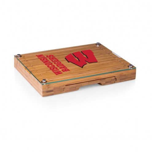 Wisconsin Badgers Concerto Bamboo Cutting Board