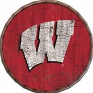 """Wisconsin Badgers Cracked Color 24"""" Barrel Top"""