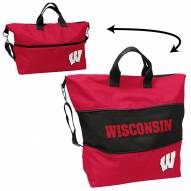 Wisconsin Badgers Crosshatch Expandable Tote