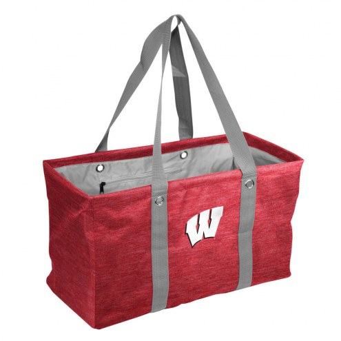 Wisconsin Badgers Crosshatch Picnic Caddy