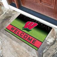 Wisconsin Badgers Crumb Rubber Door Mat