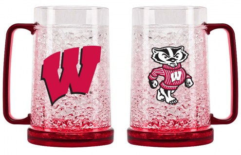 Wisconsin Badgers Crystal Freezer Mug
