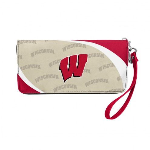 Wisconsin Badgers Curve Zip Organizer Wallet