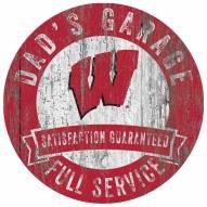 Wisconsin Badgers Dad's Garage Sign