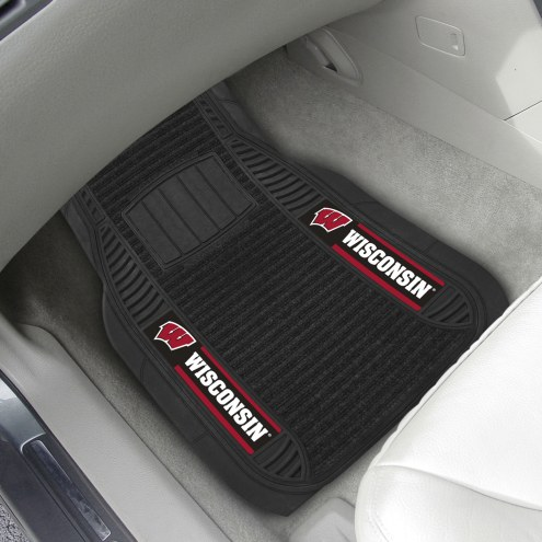Wisconsin Badgers Deluxe Car Floor Mat Set