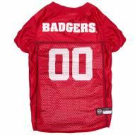 Wisconsin Badgers Dog Football Jersey