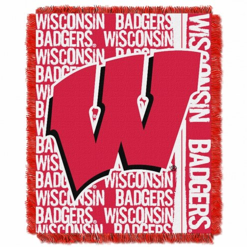Wisconsin Badgers Double Play Woven Throw Blanket