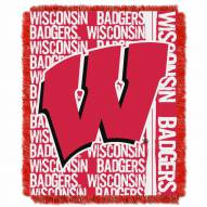 Wisconsin Badgers Double Play Woven Throw Blanket