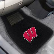 Wisconsin Badgers Embroidered Car Mats