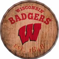"""Wisconsin Badgers Established Date 24"""" Barrel Top"""