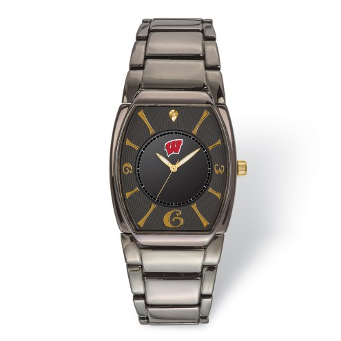 Wisconsin Badgers Executive Black Plated Watch