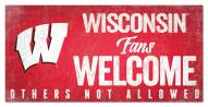 Wisconsin Badgers Fans Welcome Sign
