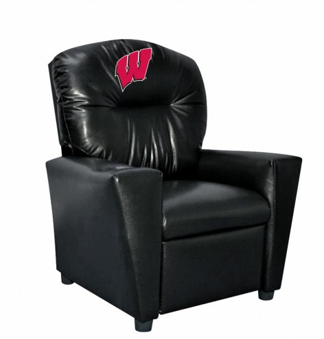 Wisconsin Badgers Faux Leather Kid's Recliner