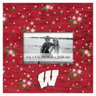 """Wisconsin Badgers Floral 10"""" x 10"""" Picture Frame"""