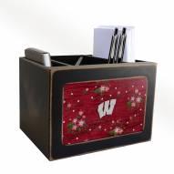 Wisconsin Badgers Floral Desktop Organizer